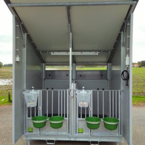 Double Calf Hutch With Roof